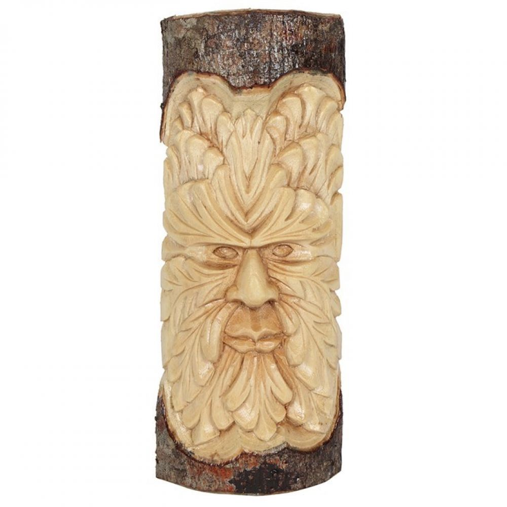30cm Green Man Wood Carving