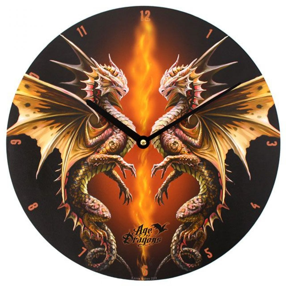 Desert Dragon Clock by Anne Stokes