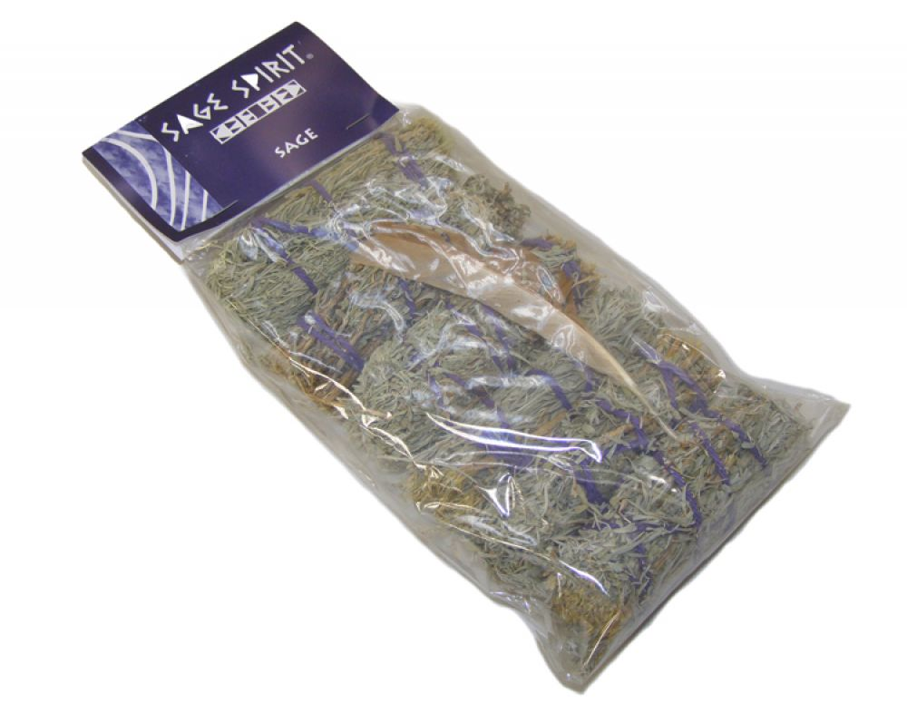 Pack of 6 Mini Sage Sticks With Feather WAS £12.99