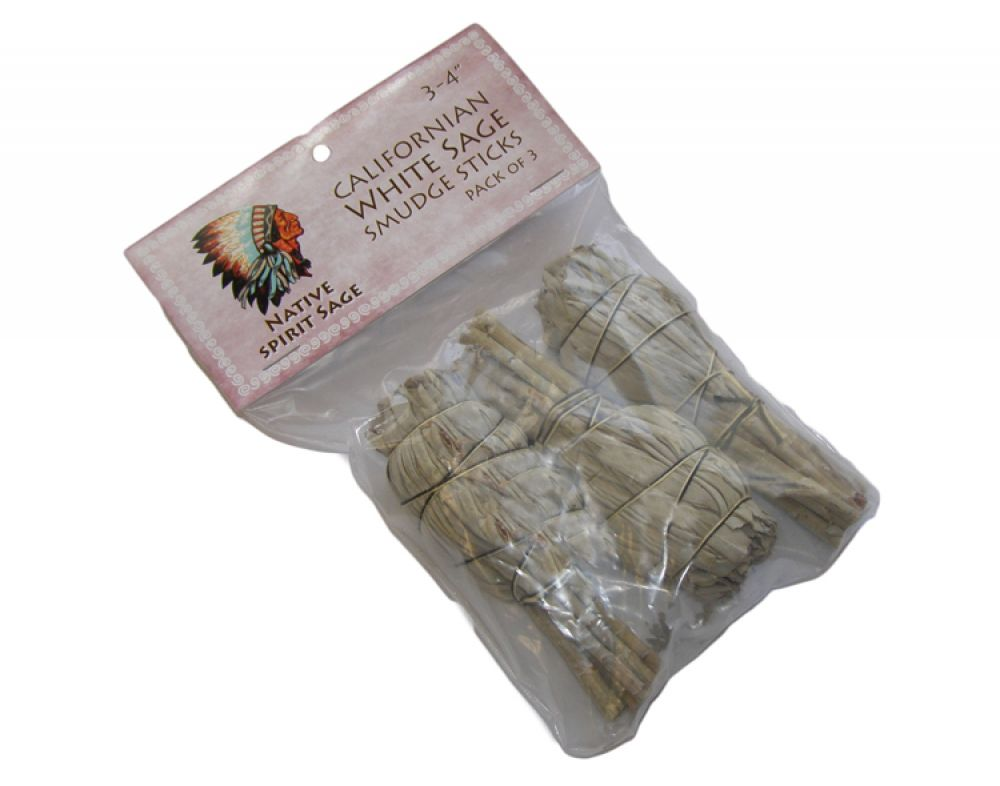 Pack of 3 California White Sage Smudge Sticks WAS £16.99
