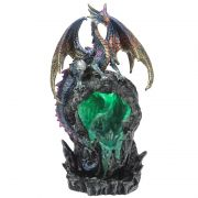 LED Ice Dragon Back Flow Incense Burner